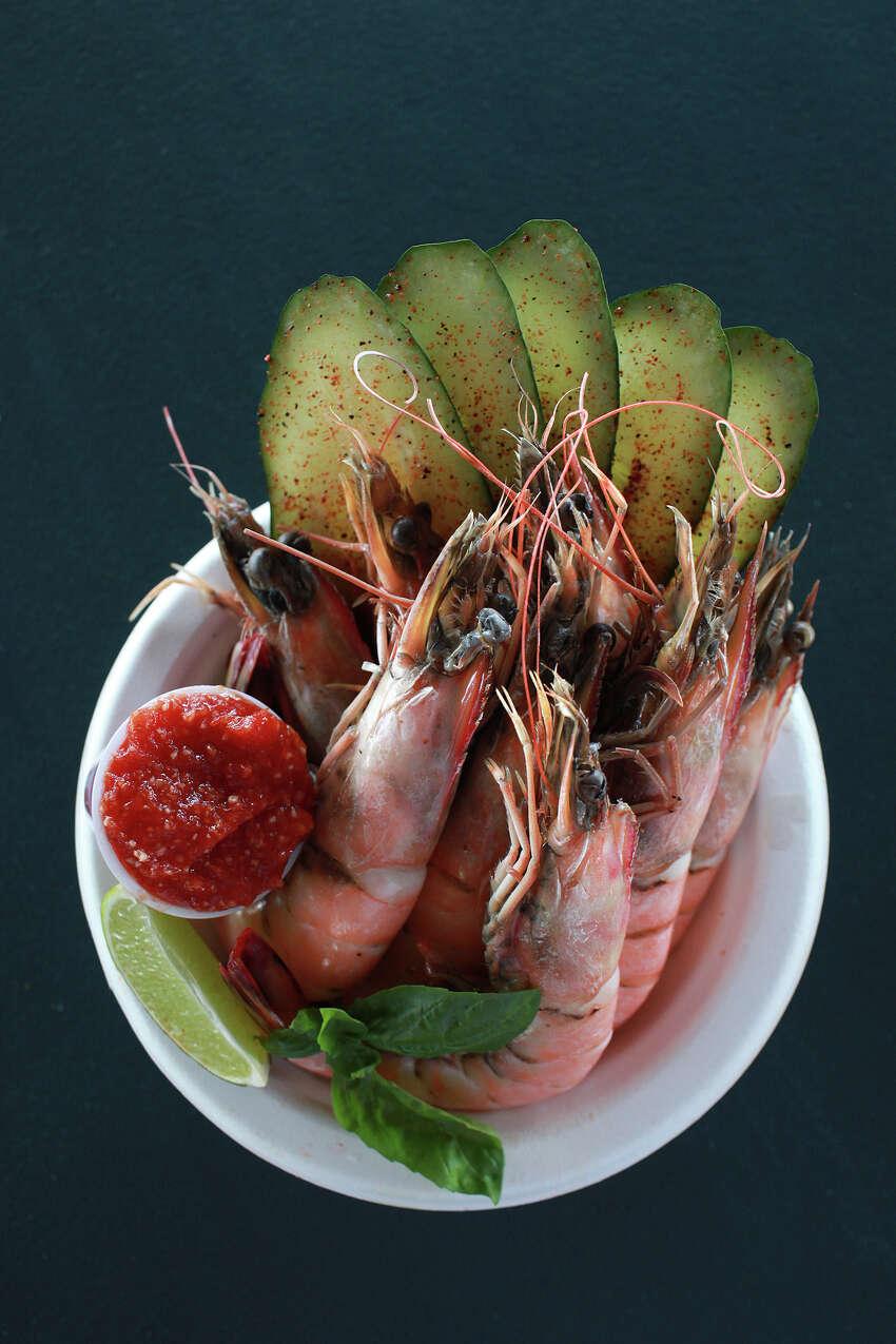 Boiled Shrimp at Where Y'At food truck