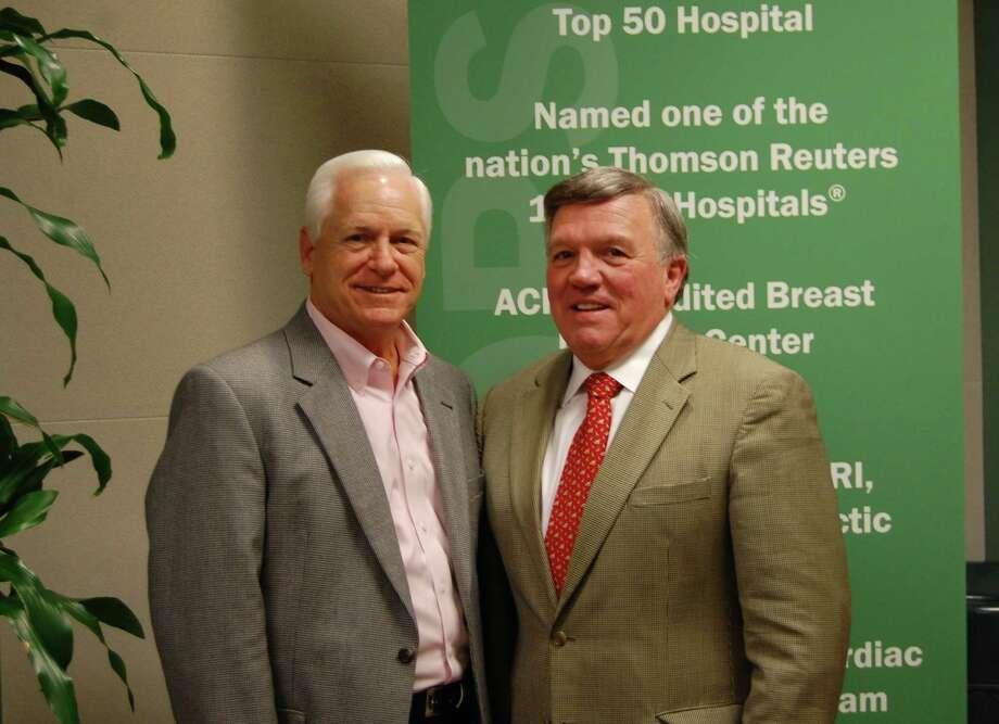 Memorial Hermann The Woodlands Hospital CEO Steve Sanders, left, and featured speaker Dr. Steve Byrum of The Byrum Consulting Group.