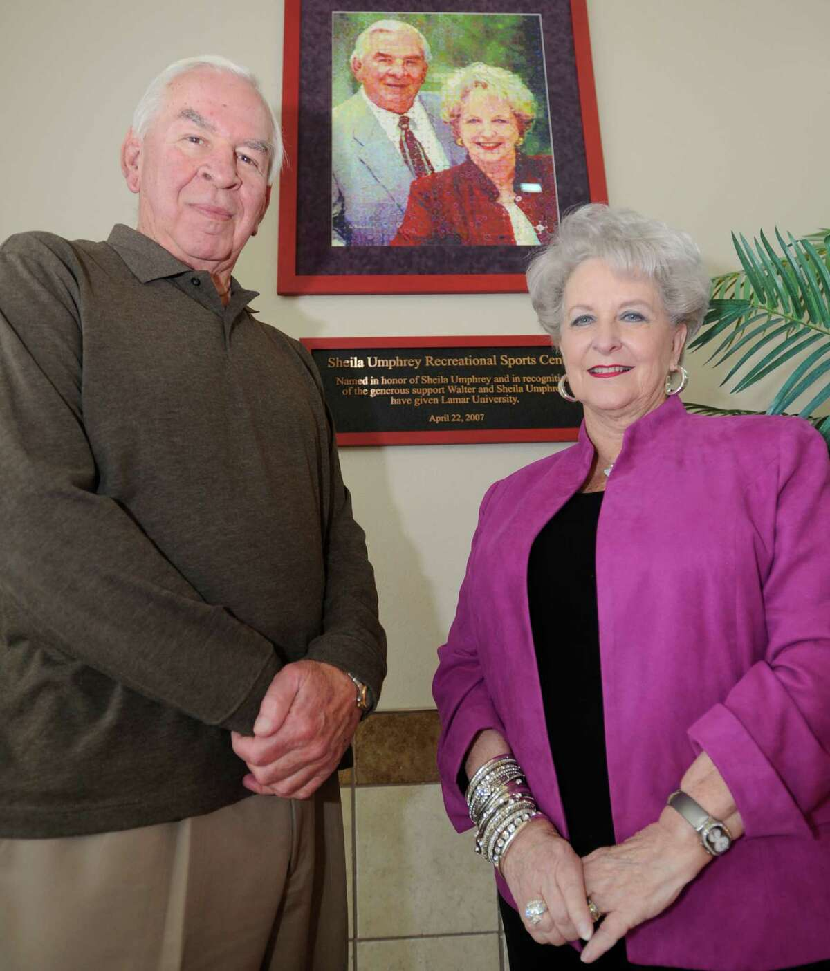 Sheila and Walter Humphrey are local philanthropists in the area, who donated $5 million in 2005 to Lamar University towards the construction of the Sheila Umphrey Recreational Center on Lamar's campus. Dave Ryan/The Enterprise