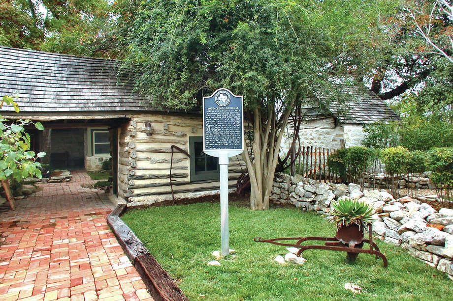 The Vogt-Clegg home in Boerne was built in the 1860s as a one-bedroom log cabin. Additions and updates have been made to the property through the years, and the main house has grown to more than 5,000 square feet. Photo: Courtesy Photo / Phyllis Browning Co.