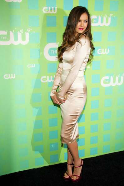 Nina Dobrev attends The CW Television Network's Upfront 2012 in New York, Thursday, May 17, 2012. (A