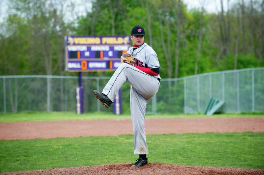 Warde starter Shane Goven, pictured in his lone win of 2012 at Westhill, had his best outing of the season on Wednesday against Greenwich. Photo: File Photo
