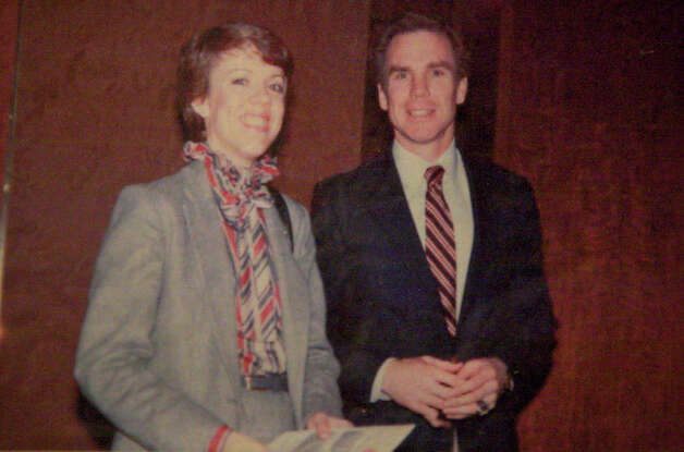 THEN: Elizabeth Dalton and Cowboys quarterback Roger Staubach at a Salvation Army (Texas) fund raiser at the Sheraton Hotel, Dallas 1981.