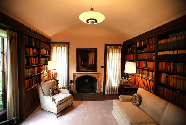 A library is part of the Winter House, built in 1925 and designed by architect Ray J. Kieffer. The home in Beverly Hills, California, is on the market for the first time in 87 years. Photo: Brian Van Der Brug, MCT / Los Angeles Times