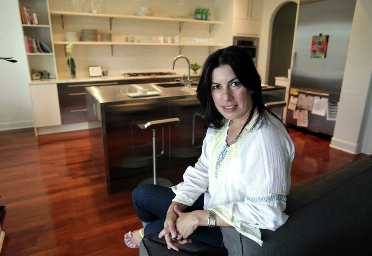 Mary Burchett in her renovated kitchen on April 25, 2012.