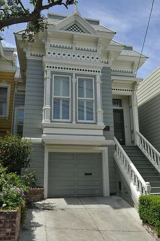 The Victorian home at 284 Collingwood Street in San Francisco has one bedroom and 1.5 bathrooms across 1,400 square feet. It's listed for  $1.56 million. Photo: Garylee Hall