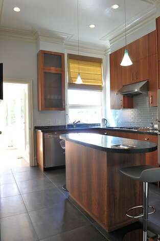 A look at the modern kitchen from another direction. Photo: Garylee Hall