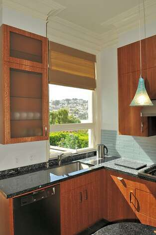 The kitchen offers views from its windows. Photo: Garylee Hall