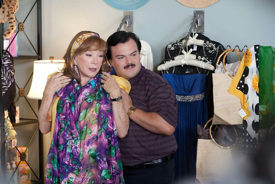 Shirley MacLaine as ÒMarjorie NugentÓ and Jack Black as ÒBernie TiedeÓ in BERNIE. Photo: Millennium Entertainment