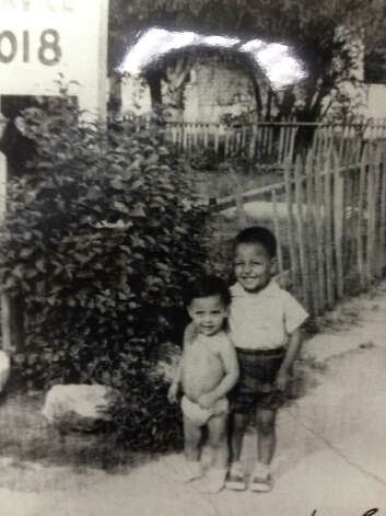 THEN: Fabian Castillo, 1, Ray Castillo Jr., 3, in 1963. Photo: COURTESY