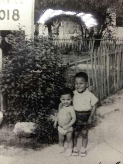 THEN: Fabian Castillo, 1, Ray Castillo Jr., 3, in 1963.