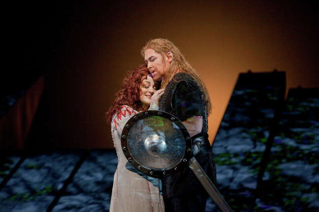 "A scene from the Wagner opera ìGötterdämmerung,"" which can be enjoyed at the Ridgefield Playhouse Saturday, May 26, as part of The Met Opera Live in HD series. Photo: Contributed Photo"