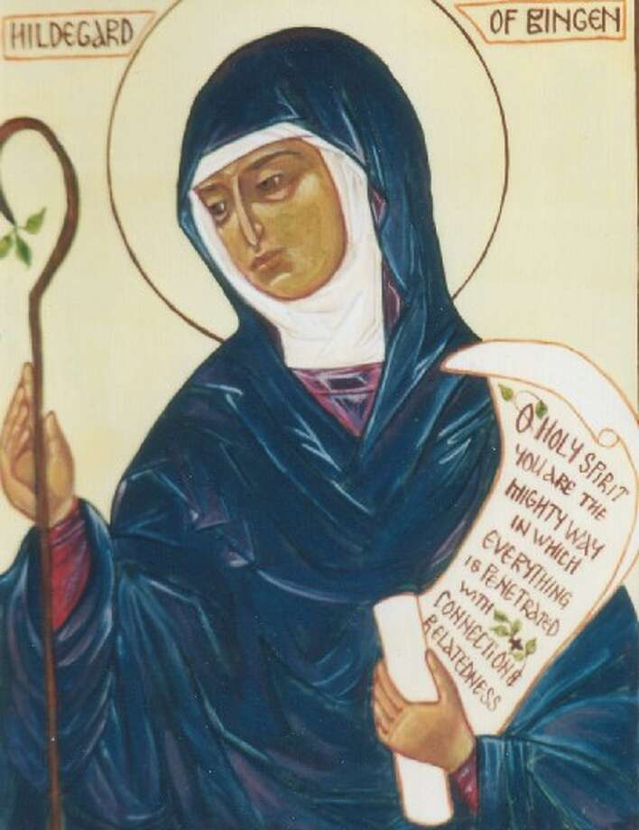 Pope Benedict XVI has ordered Hildegard von Bingen, a 12th-century German nun, to be inscribed in the catalogue of saints. She was the first woman to be officially recognized as a  prophetess  by the Roman Catholic Church. Photo: Courtesy Photo
