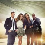 AMERICAN IDOL, moves to Wednesdays and Thursdays beginning with a two-night premiere event Wednesday, Jan. 19 (8:00-10:00 PM ET/PT) and Thursday, Jan. 20 (8:00-9:00 PM ET/PT). Pictured: Ryan Seacrest, jennifer Lopez, Steven Tyler and Randy Jackson. CR: Tony Duran / FOX