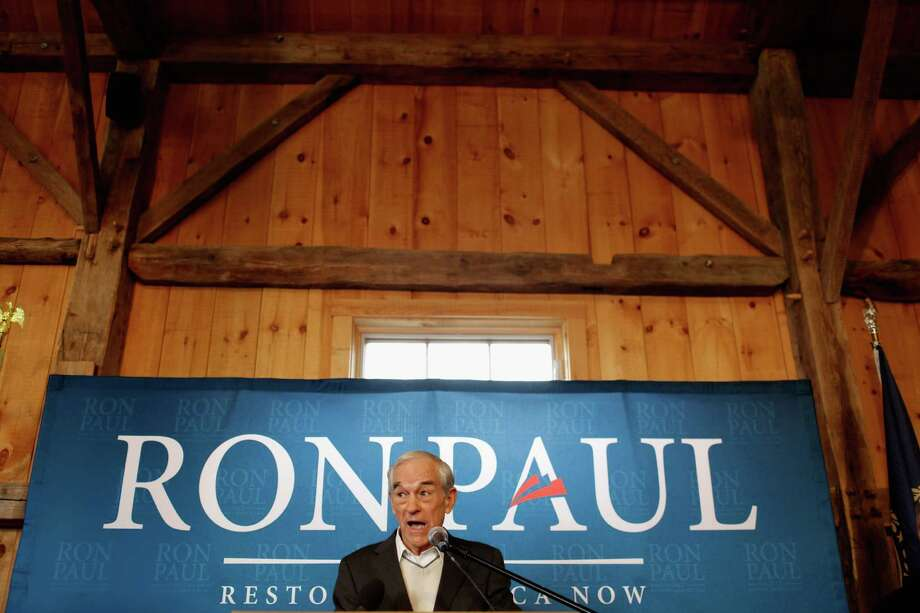 HOLLIS, NH - JANUARY 09:  Republican presidential candidate, U.S. Rep. Ron Paul (R-TX) addresses a group of homeschool supporters at the Lawrence Barn the day before the state primary January 9, 2012 in Hollis, New Hampshire. According to recent state-wide polls, Paul is in second place in a field of six hopefuls but still lags behind former Massachusetts Gov. Mitt Romney by more than 20 percentage points in this New England state.  (Photo by Chip Somodevilla/Getty Images) Photo: Chip Somodevilla / 2012 Getty Images