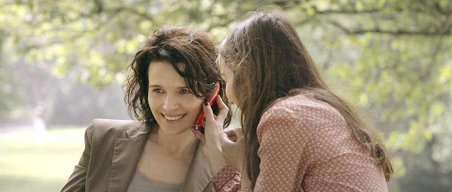 Juliette Binoche and Ana•s Demoustier in Elles, a film by Malgorzata Szumowska. Photo: Szymon Roginski, Kino Lorber