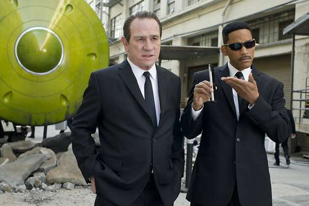 "Tommy Lee Jones and Will Smith in ""Men in Black 3."" Tommy Lee Jones (left) and Will Smith star in Columbia Pictures' MEN IN BLACK 3. Photo: Saeed Adyani, Columbia Pictures 2012"
