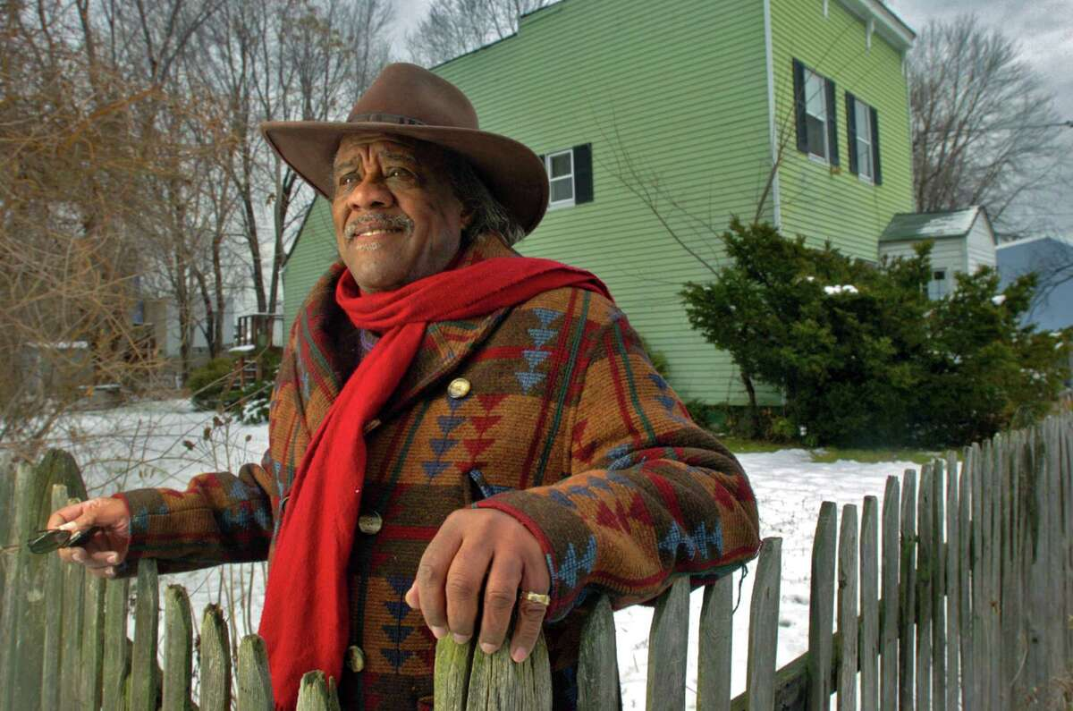 Nebraska Brace is shown in 2006 after the longtime presence in Arbor Hill and Albany politics wrote a memoir. He is pictured in the yard of his Arbor Hill home in Albany, NY. The former Third Ward alderman has died, family members said Friday, May 18, 2012. (Philip Kamrass / Times Union archive)