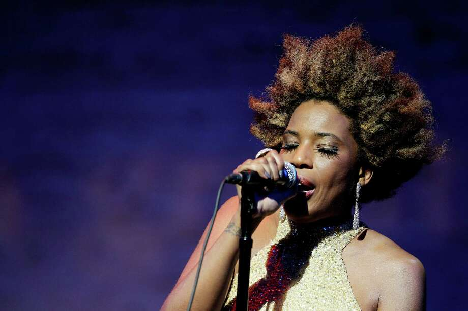 In this May 17, 2012 photo, Macy Gray performs at The Jazz Foundation of America Celebrates A Great Night In Harlem at The Apollo Theater in New York. Photo: MARION CURTIS, AP / StarPix©2012