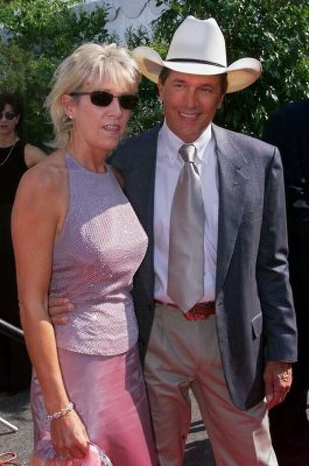 George Strait, right, and wife Norma arrive at the 35th Annual Academy of Country Music Awards, Wednesday, May 3, 2000, in Universal City, Calif.