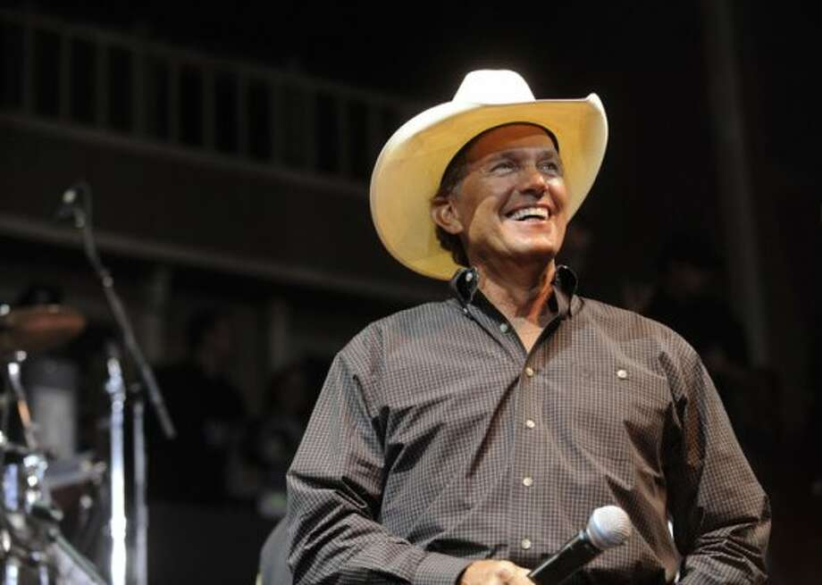 "Country music star George Strait lends his star power to the ""For the Love of Kids and Harleys"" charity event at Cowboys Dance Hall on Tuesday, Sept. 15, 2009."