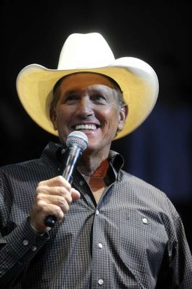 "Country music star George Strait lends his star power to the ""For the Love of Kids and Harleys"" charity event at Cowboys Dance Hall on Tuesday, Sept. 25, 2009."
