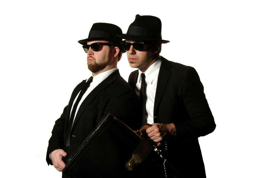 Ben Scharff (from left) and Bryan Ortiz perform as the SA Blues Brothers. Courtesy Bryan Ortiz