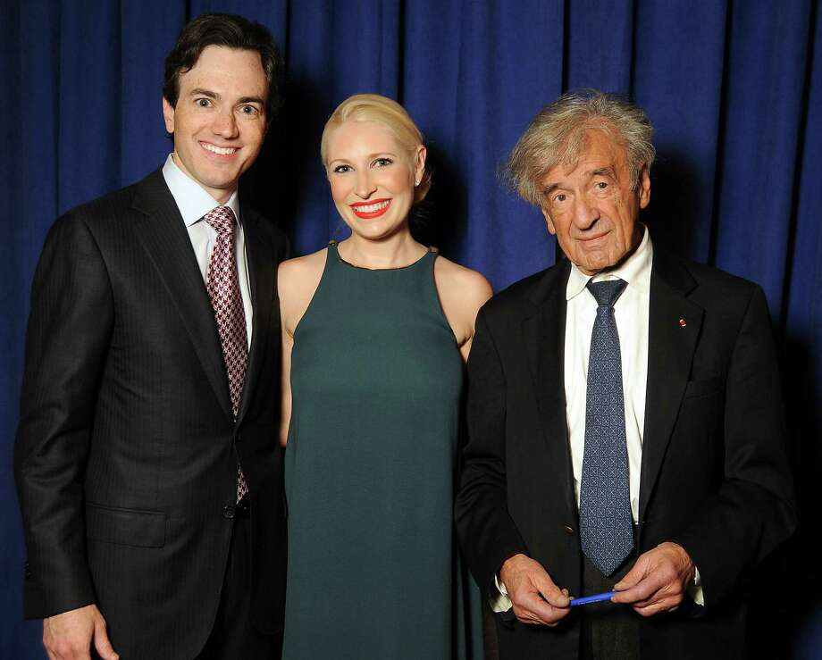 Chairs Danny and Isabel David, left, with Elie Wiesel Photo: Dave Rossman / © 2012 Dave Rossman