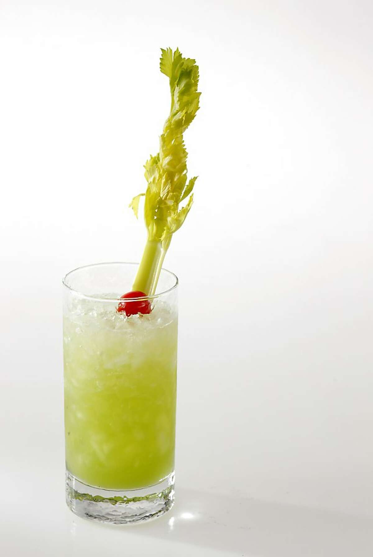 Celery Cooler cocktail as seen in San Francisco, California on Wednesday, May 9, 2012. Drink styled by Sarah Fritsche.
