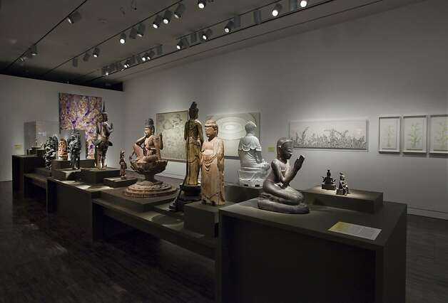 "A group of traditional religious sculptures installed in the Hambrecht Gallery of the Asian Art Museum as part of ""Phantoms of Asia: Contemporary Awakens the Past"" (May - Sept, 2012) Photo: Kaz Tsuruta"
