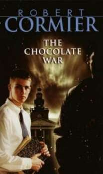 """The Chocolate War"" by Robert Cormier – On the American Library Association's list of frequently challenged books, it ranked No. 10 in 2009, No. 2 in 2007, No. 10 in 2006, No. 4 in 2005, No. 1 in 2004, No. 3 in 2002 and No. 3 in 2001 – Some complain the book contains nudity, offensive language and sexually explicit content."