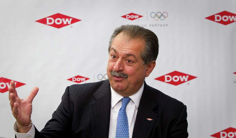 Dow Chemical Co. chairman and CEO Andrew N. Liveris,answers questions about Dow's new ethylene production plant at Dow Texas Operations, Thursday, April 19, 2012, on the Brazosport College campus in Lake Jackson. ( Nick de la Torre / Houston Chronicle ) Photo: Nick De La Torre / © 2012  Houston Chronicle
