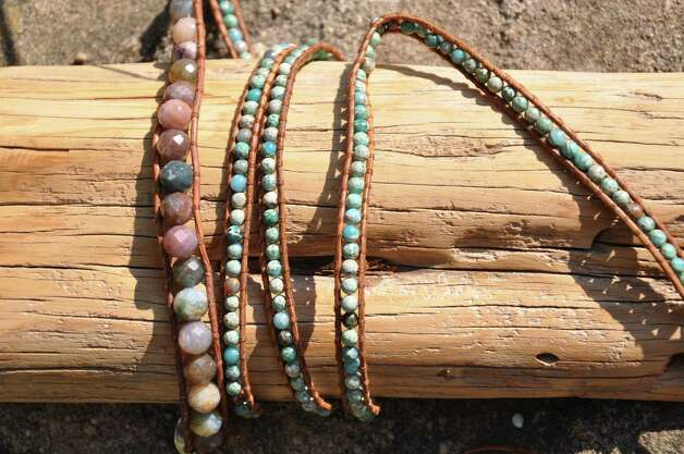 Luu is known for  her handmade, artsy  jewely, such as these wrap bracelets. Photo: Melissa Ward Aguilar, Houston Chronicle