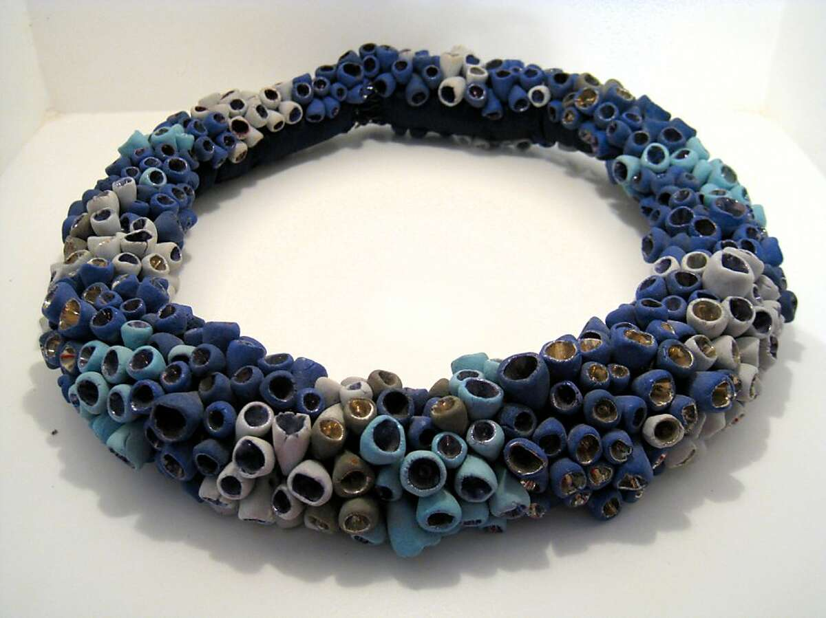 A sea-form inspired necklace by Curacao artist Evelien Sipkes.