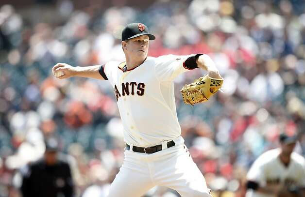 Giants pitcher Matt Cain throws against the Cardinals in San Francisco, Calif., Thursday, May 17, 2012.  The Giants won 7-5. Photo: Sarah Rice, Special To The Chronicle