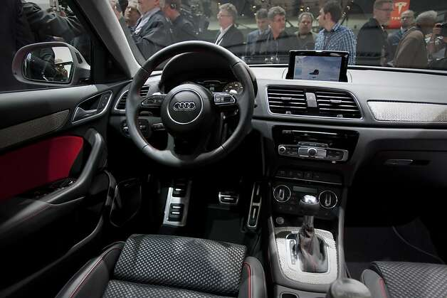 The interior of the Audi AG Q3 vehicle is displayed during the 2012 North American International Auto Show (NAIAS) in Detroit, Michigan, U.S., on Monday, Jan. 9, 2012. The Detroit auto show runs through Jan. 22 and will display over 500 vehicles. Photographer: Scott Eells/Bloomberg Photo: Scott Eells, Bloomberg