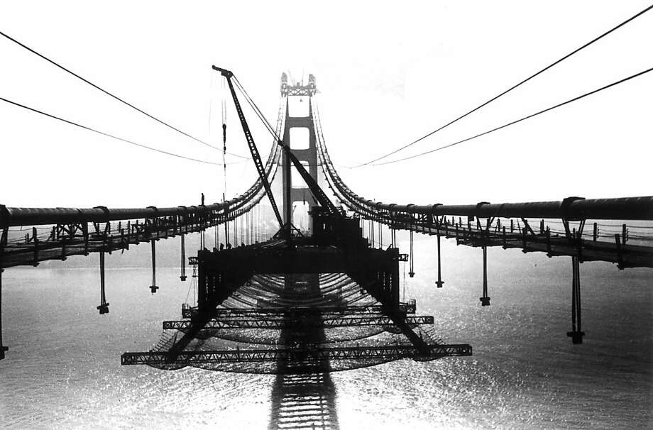 For the roadway construction of  the Golden Gate Bridge, Strauss insisted on the addition of the $130,00 safety net. Photo: Www.goldengate75.org