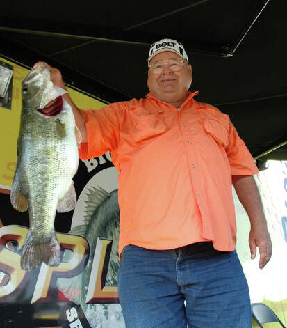 9.17 lbs took over the lead on day 2 as J.D. Harris of Laird Hill, TX weighed in his 9.17 lb catch  Photo by Patty Lenderman / Lakecaster