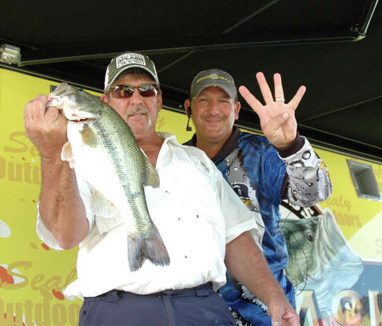 4.00 exactly - and that breaks down to $1,250 per pound.  Dean West of Lake Charles, LA won $5,000 for this catch!  photo by Patty Lenderman / Lakecaster