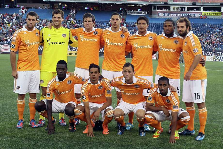 FOXBORO, MA - MAY 19:  The Houston Dynamo pose for a group photo before the game against the New England Revolution   on May 19, 2012 at Gillette Stadium in Foxboro, Massachusetts. Photo: Elsa, Getty Images / 2012 Getty Images