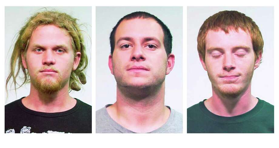 This combo made from undated photos released Saturday, May 19, 2012 by the Chicago Police Department shows from left, Brent Vincent Betterly, 24, of Oakland Park, Fla., Jared Chase, 24, of Keene, N.H., and Brian Church, 20, of Ft. Lauderdale, Fla. The three men arrested Wednesday, May 16, 2012, in Chicago, accused of making Molotov cocktails with plans to attack President Barack Obama's campaign headquarters, Mayor Rahm Emanuel's home and other targets during this weekend's NATO summit, according to prosecutors at a court hearing Saturday. The three were arrested in a nighttime raid of an apartment in the city's South Side Bridgeport neighborhood ahead of the two-day meeting. Photo: AP