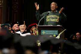 Comedian and educator, Bill Cosby, delivers the commencement speech to the graduating students of Arts and Social Sciences at the University of San Francisco, on Friday May 18, 2012, at  St. Ignatius Church in San Francisco,Ca.