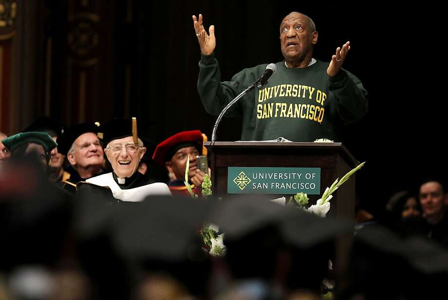 Comedian and educator, Bill Cosby, delivers the commencement speech to the graduating students of Arts and Social Sciences at the University of San Francisco, on Friday May 18, 2012, at  St. Ignatius Church in San Francisco,Ca. Photo: Michael Macor, The Chronicle