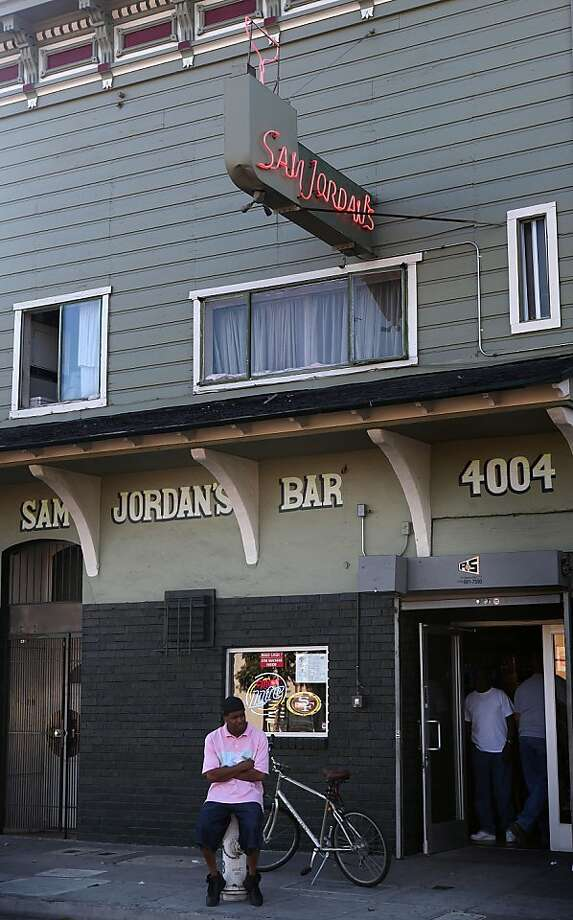 Sam Jordan's Bar  in the Bayview is a 54-year-old  fixture of the black community. Photo: Liz Hafalia, The Chronicle