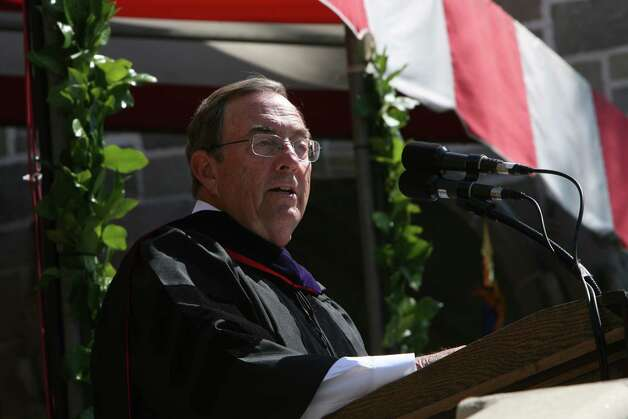 Joseph Russoniello is the speaker at Fairfield University's 62nd commencement exercises in Fairfield, Conn. on Sunday, May 20, 2012. Photo: B.K. Angeletti / Connecticut Post