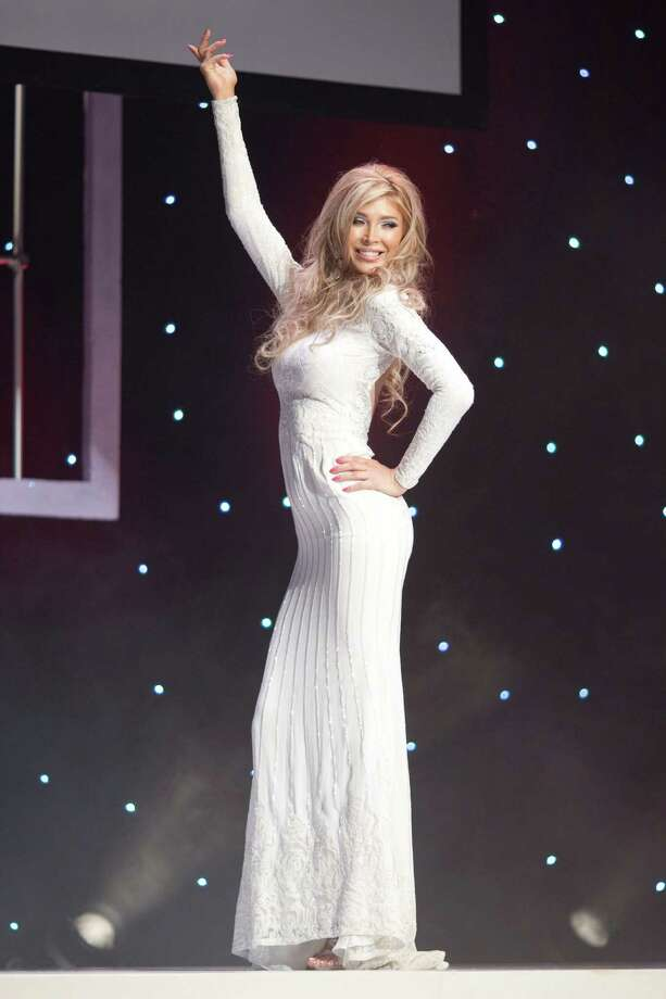 Transgendered beauty queen Jenna Talackova appears in the Miss Universe Canada pageant in Toronto, on Saturday May 19, 2012. Talackova sparked global attention when she was initially disqualified from the pageant. Photo: AP