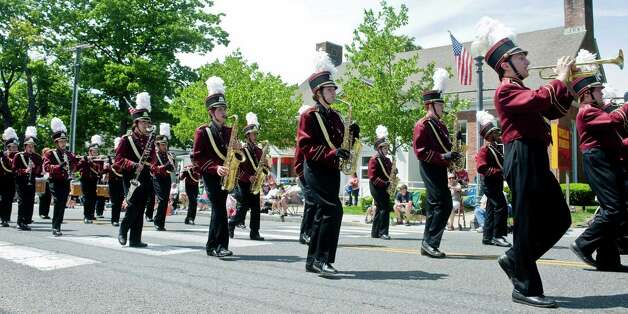 The Bethel High School band marching up Greenwood Avenue during the Bethel Memorial Day parade. Sunday, May 20, 2012 Photo: Scott Mullin / The News-Times Freelance