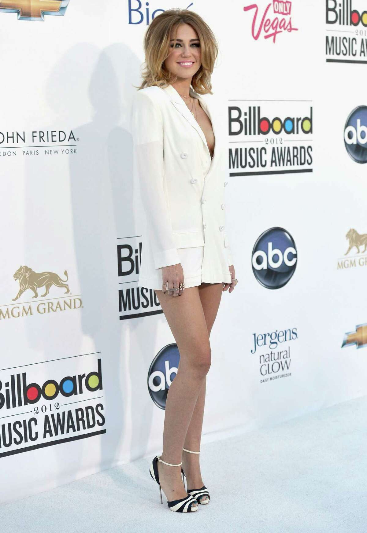 LAS VEGAS, NV - MAY 20: Singer Miley Cyrus arrives at the 2012 Billboard Music Awards held at the MGM Grand Garden Arena on May 20, 2012 in Las Vegas, Nevada.