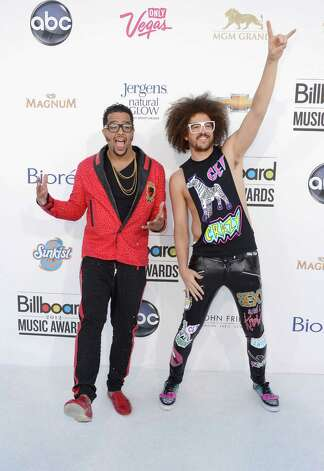 LAS VEGAS, NV - MAY 20:  Musicians Sky Blu and Redfoo of 'LMFAO' arrives at the 2012 Billboard Music Awards held at the MGM Grand Garden Arena on May 20, 2012 in Las Vegas, Nevada. Photo: Frazer Harrison, Getty Images For ABC / 2012 Getty Images