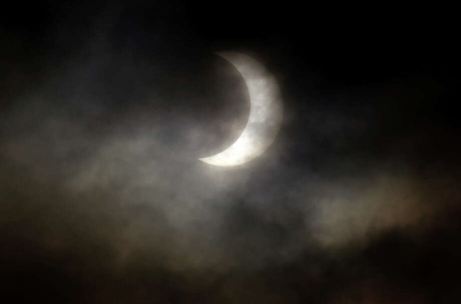 A partial eclipse of the Sun is seen on Sunday, May 20, 2012 in Sequim, Washington. Photo: JOSHUA TRUJILLO / SEATTLEPI.COM